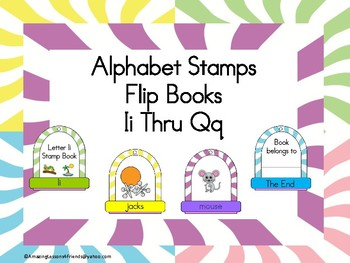 Stamping into Letters Ring Books Ii thru Qq