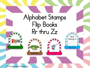 Stamping into Letters Ring Books Rr Thru Zz