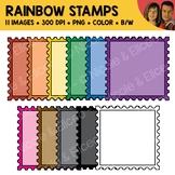 Rainbow Stamp Clipart