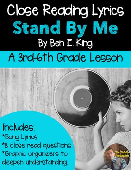 """Poetry They Will LOVE: Close Reading With Lyrics- """"Stand B"""