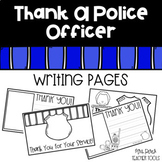 Thank a Police Officer Writing Pages