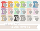 Stand Mixer Clipart; Kitchen, Baking, Electric, Appliance