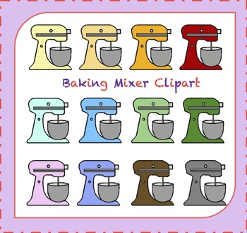 Stand Mixer Clipart / Baking Clipart