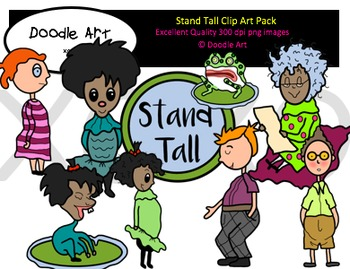 Stand Tall Clipart Pack