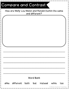Stand Tall, Molly Lou Melon- A Literacy Unit!
