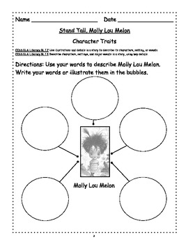 Stand Tall, Molly Lou Melon ~ A Common Core Language Arts Bundle