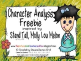 Character Analysis Freebie inspired by Stand Tall, Molly Lou Melon