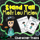 Stand Tall Molly Lou Melon - Character Traits - First Day of School Activities