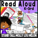 Stand Tall Molly Lou Melon Read Aloud Book Activities with