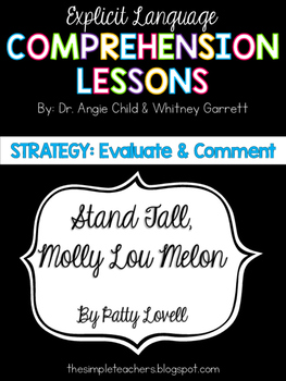 Stand Tall, Molly Lou Melon - Evaluate and Comment Compreh