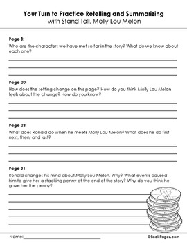 Stand Tall, Molly Lou Melon Lesson Plans & Activities, Second Grade