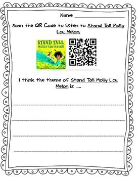 """Stand Tall Molly Lou Melon"" QR Code Theme Sheet"