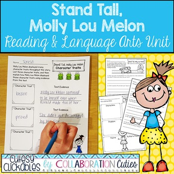 Stand Tall Molly Lou Melon Reading and Language Arts Activ