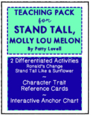 Stand Tall, Molly Lou Melon Teaching Pack (Activities and Anchor Chart)
