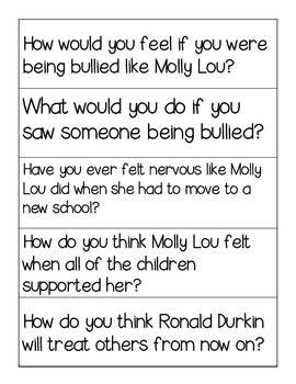 Stand Tall, Molly Lou Melon! Thick and Thin Questions {FREE}