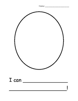 """I Can"" Statement Worksheet"