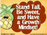 Growth Mindset Posters and Writing (Pineapple Theme)