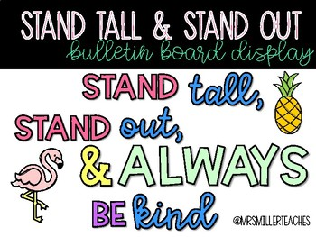 Stand Tall and Stand Out Tropical Bulletin Board Display