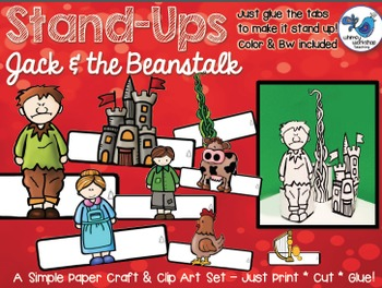 Stand UPS: Jack and the Beanstalk Clip Art Set - Whimsy Wo