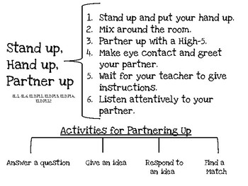 Stand Up, Hand up, Partner Up Collaboration Strategy