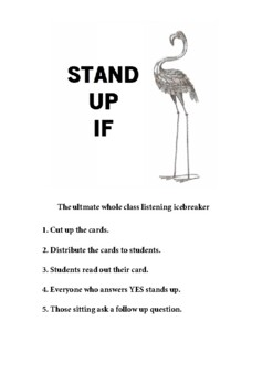 Stand Up If cards