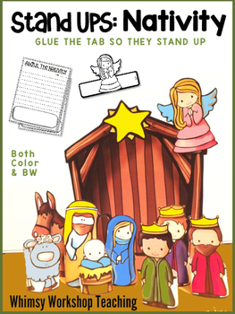 Stand-Up Nativity Craft and Writing Activity