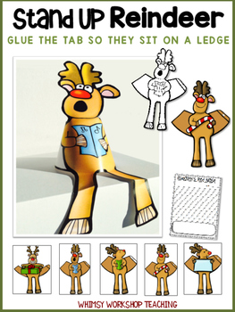Stand-Up Reindeer Craft and Writing Activity