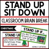 Stand Up Sit Down Brain Break {Christmas }