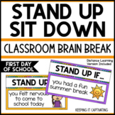 Stand Up Sit Down Brain Break {First Day of School}