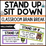 Stand Up Sit Down Brain Break {Halloween}