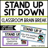 Stand Up Sit Down Brain Break {Last Week of School}
