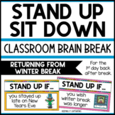 Stand Up Sit Down Brain Break {Returning from Winter Break }