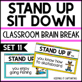 Stand Up Sit Down Brain Break {Set 11}