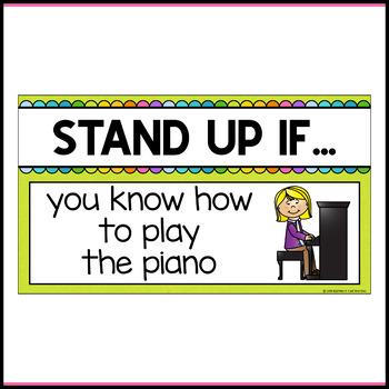 Stand Up Sit Down Brain Break {Set 2}