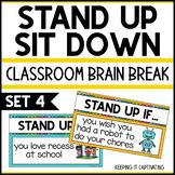 Stand Up Sit Down Brain Break {Set 4}