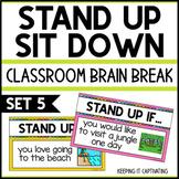 Stand Up Sit Down Brain Break {Set 5}