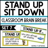 Stand Up Sit Down Brain Break {Set 7}