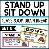 Stand Up Sit Down Brain Break {Set 8}