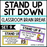 Stand Up Sit Down Brain Break {Set 9}