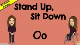 Stand Up, Sit Down - Letter Oo - Initial Letter Sounds