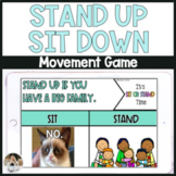 Stand Up Sit Down NO PREP Community Building Game Distance Learning