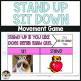 Stand Up Sit Down NO PREP Community Game Distance Learning