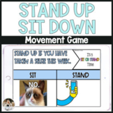 Stand Up Sit Down NO PREP Distance Learning Game