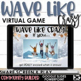 Stand Up Sit Down   Wave Like Crazy   Winter Virtual Games Distance Learning