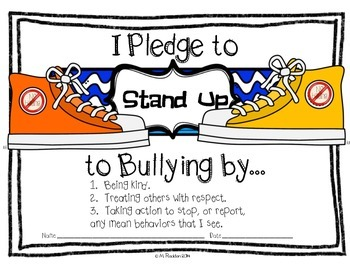 Stand Up to Bullying Pledge FREEBIE