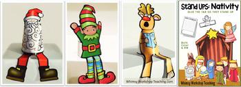 Stand-Ups Christmas Craft and Writing BUNDLE 4 pack