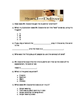 Stand and Deliver Movie Guide