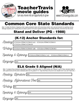 Stand and Deliver Movie Viewing Guide (PG - 1988)