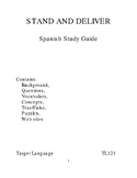 Stand and Deliver-Spanish Study Guide