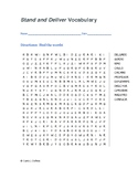 Stand and Deliver Word Search